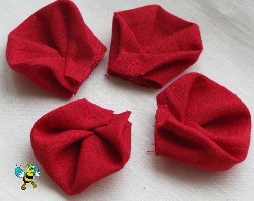 Лепестки из ткани
